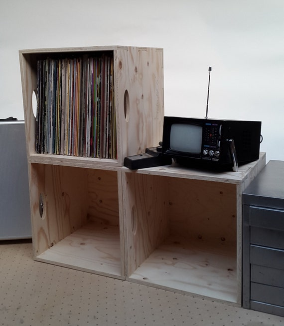 items similar to vinyl lp 12 record storage box. Black Bedroom Furniture Sets. Home Design Ideas