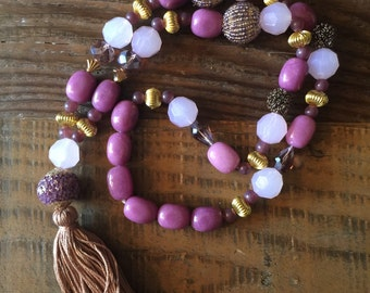 Shades of Plum and Lilac with Tassel