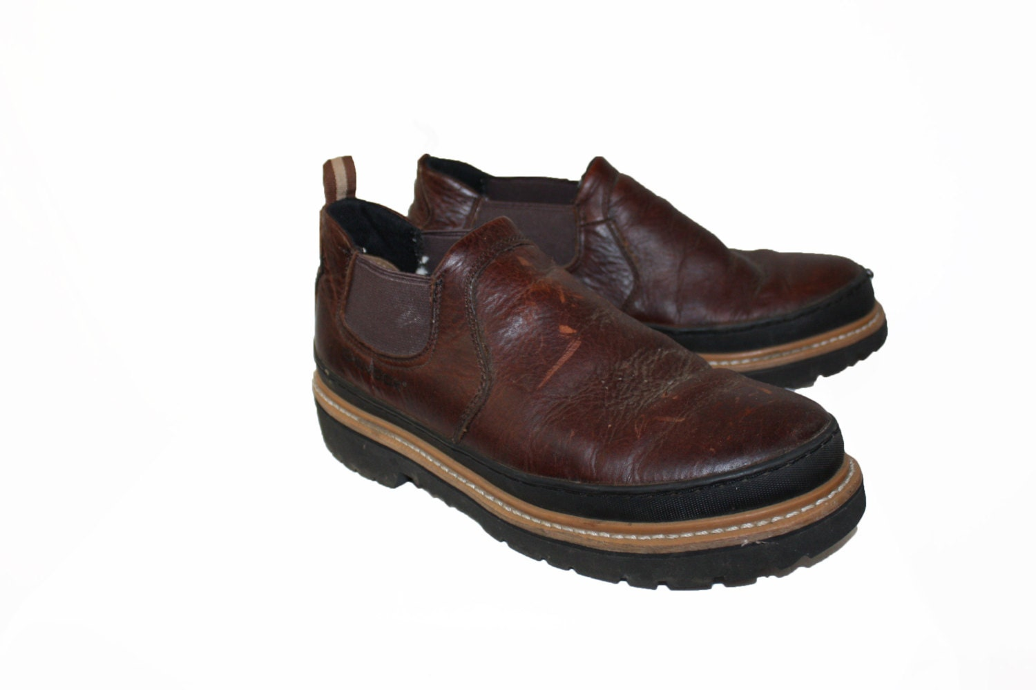 work boots vintage mens leather boots shoes leather chinook