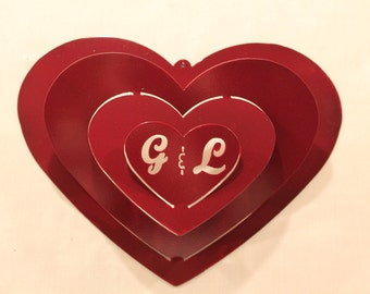 Bride and Groom Wedding Gift-Love- 3D Heart