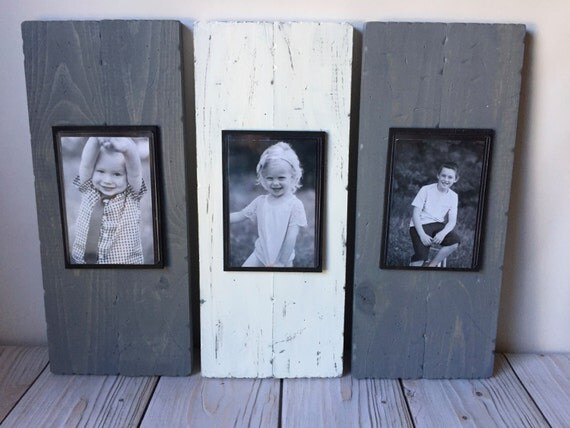 Rustic Wall Decor Set : Rustic picture frame set home decor wall