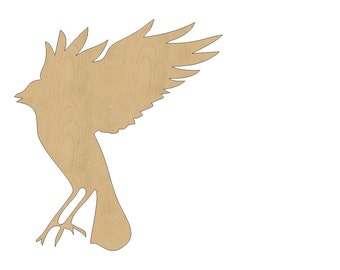 Bird Cutout Shape Laser Cut Unfinished Wood Shapes, Craft Shapes, Gift Tags, Ornaments #806 All Sizes