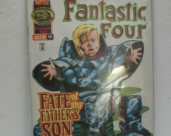 1996 Fantastic Four #414 Franklin Richards Returns  VF-NM Unread Vintage Marvel Comic Book