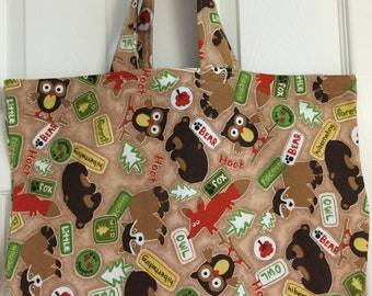 Reusable Grocery / Shopping Bag in Animal Print