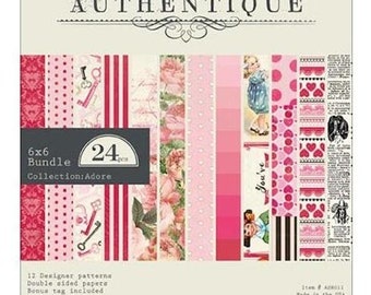 Authentique 6 x 6 ADORE Paper Pad