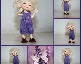 Onesie for realpuki warm cosy in the colour Lavendel