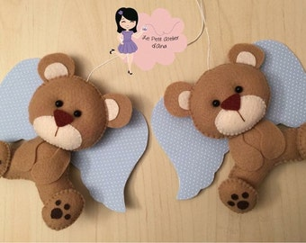 Nursery mobile - Bears with wings
