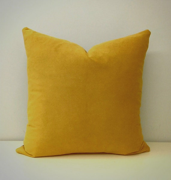 Mustard Throw Pillow Covers : Mustard Velvet Pillow Cover Mustard Velvet Pillow by artdecopillow