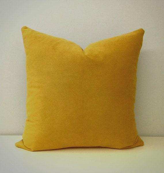 Mustard Velvet Pillow Cover Mustard Velvet Pillow by artdecopillow