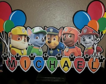 2 ft wide Paw patrol centerpiece