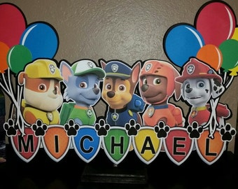 Paw Patrol 2 ft wide centerpiece