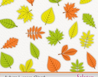 autumn leaves clipart maple leaf clip art scrapbook party printable nature background instant download