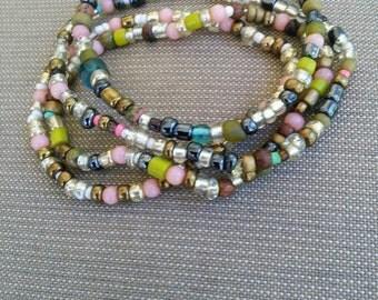 Multi Color Beaded bracelets (4)