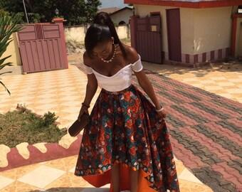 Yayra hi-lo skirt and off shoulder crop top