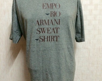 Vintage EMPORIO ARMANI Tshirt Heather Gray Made In Italy