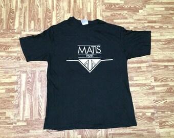 Vintage 80s NOS Unworn MATIS Paris T Shirt Large Size