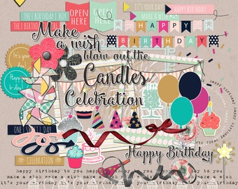 Make a wish - Digital Scrapbooking Elements