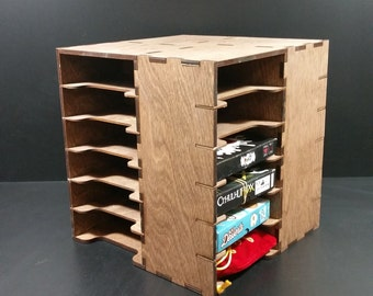 """10"""" Laser cut Wooden Storage Cube with 20 removable shelves"""