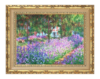 The Artist's Garden at Giverny Claude Monet Canvas Wall Art Print Painting Reproduction - Clearance Sale - Sizes Small to Large - M00006-706