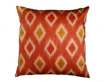Coral Pillow Cover with Optional Polyester or Feather Insert
