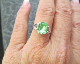 Vintage Silver and Peridot Ring, sizes 5,6 & 8 available, never worn, free shipping