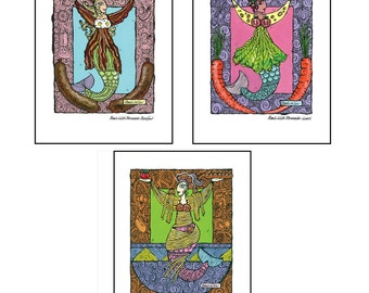 Series Art Print Meals With Mermaids - Print 12 x 16