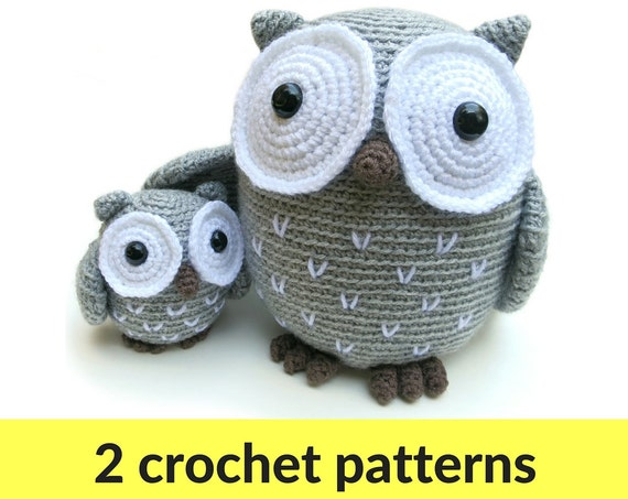 Free Owl Stuffed Cuddly Crochet Pattern : Owl amigurumi patterns owl stuffed animal crochet owl