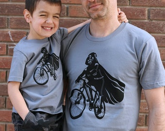 Father's day gift, Darth Vader is Riding it father son matching shirts, daddy and son, funny dad shirt, star wars t-shirt set, family shirts