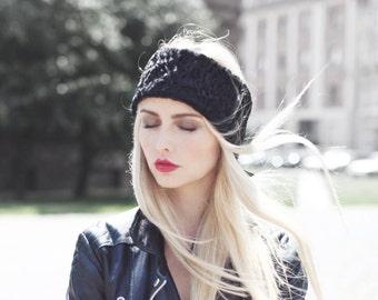 Headband Headpiece Stirnband Mütze Ohrwärmer Pelz Russian Polish recycled fur hat Winter Chapka Ski Accessoire #shotinthedark