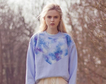Hand Painted Galaxy jumper