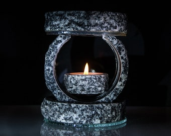 Raw stone oil burner- FREE SHIPPING,Stelar5,oil diffuser,candle warmer,aroma öl brenner,aroma lamp,essential oil burner,unique,marble