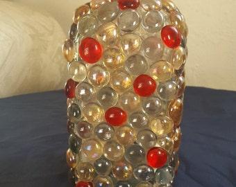 Beaded Bottle Lamp