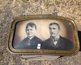 Antique picture and bubble frame