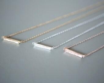 Silver Minimalist Bar Necklace, Minimalist Jewelry, Dainty Jewelry, Minimalist Necklace, Dainty Necklace, Bar Necklace, Delicate Necklace