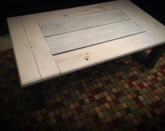 Coffee table made with reclaimed barnwood custom made to order
