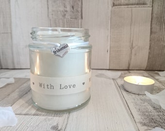Bridesmaid (with love) Scented Soy Candle Gift