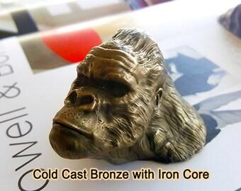 Gorilla sculpture Gorilla ape monkey sculpture ape art monkey gorilla figurine face chimpanzee gorilla figure jungle gorilla silver back