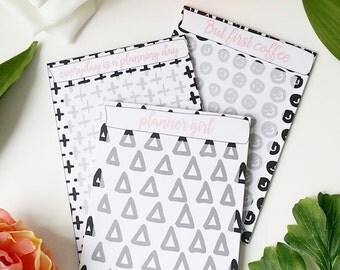 3 paper pad / memo pad / note block MIX.