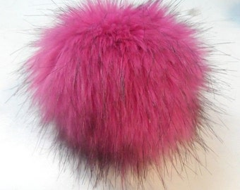 Size XL faux fur pom pom 6.5 inches/16 cm