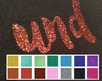 6 sheets of glitter HTV with real glitter particles for a bit of extra glamour, garment decoration, free choice of colors, 8 1/4'x11 1/2'