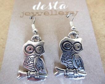 Cute Owl Charm Earrings