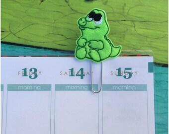 Baby Alligator Planner Clip, Bookmark, paper clip, planner accessories, page clip, paperclip, planner paper clip, felt planner clip