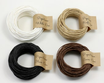 10m kraft paper twine, eco-friendly twine, paper twine lot, gift wrapping and packaging