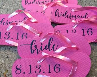 Flip Flop Labels, DIY Project, Bridal Party Gift, Flip Flops, Flip-Flops, Personalized Flip Flops, Bridesmaid Gift, Beach Wedding, DIY,