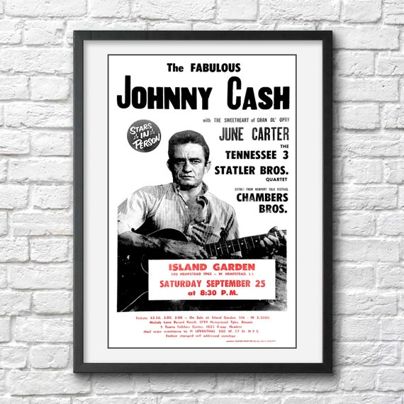 johnny cash photo print poster johnny cash by antiquephotoarchive. Black Bedroom Furniture Sets. Home Design Ideas
