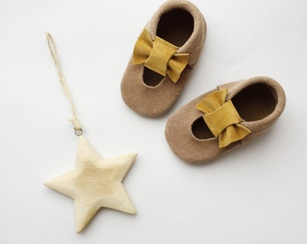 "Ballet moccs ""little star"" / baby moccs / soft soled moccs"