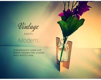 Vintage Meets Modern Milk Bottle Minimalist Vase