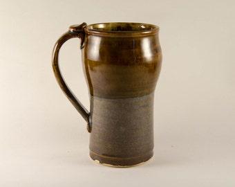 Tall Blue Brown Mug