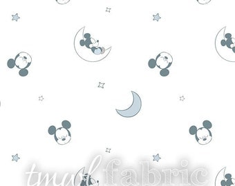 Woven Fabric - Disney Bambino Sleeping Mickey Mouse - Fat Quarter Yard +