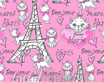 Woven Fabric - Disney Aristrocats Merci Paris - Fat Quarter Yard +